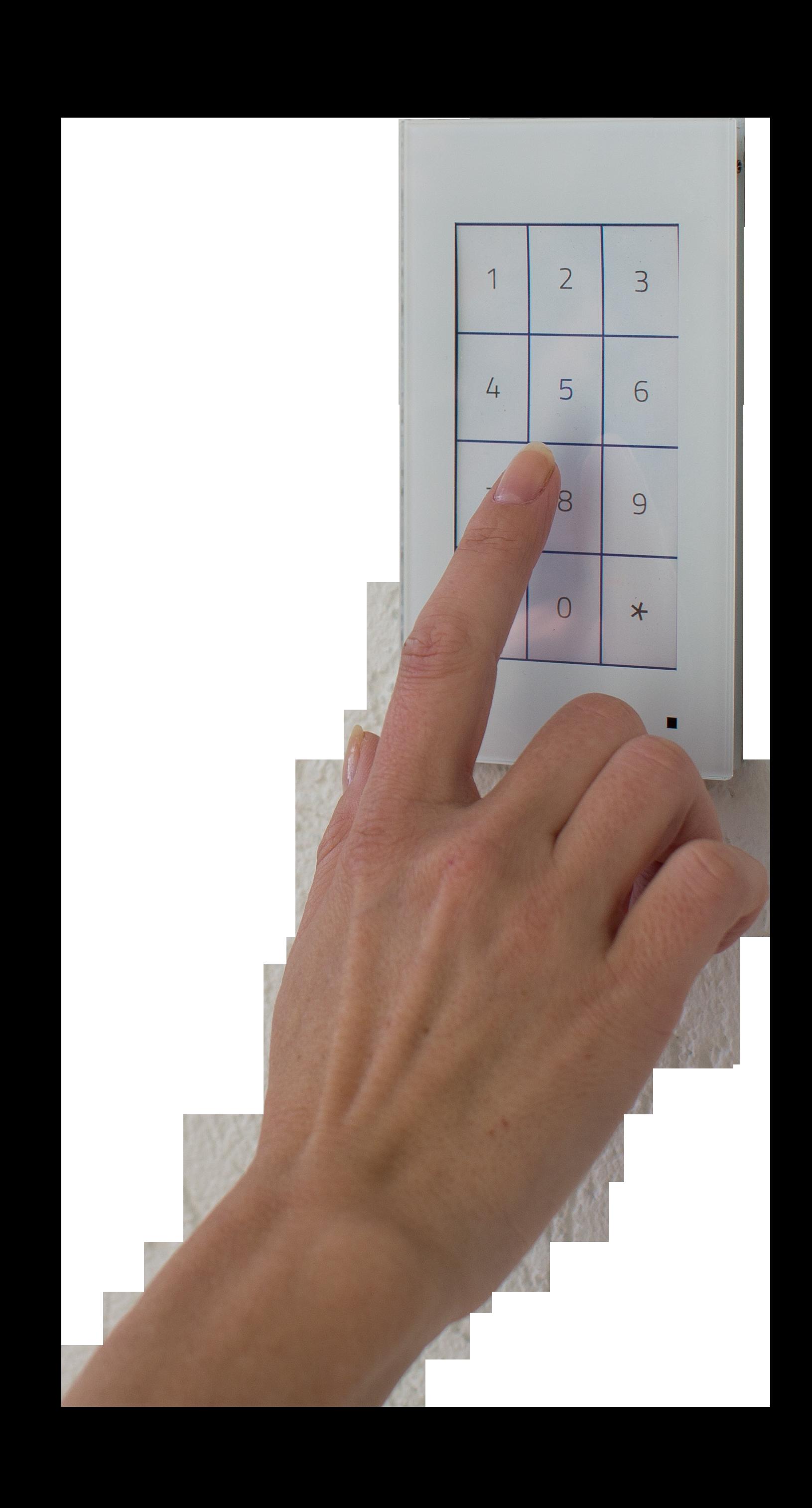 Pincode invoeren in de CommOne voor de toegangscontrole